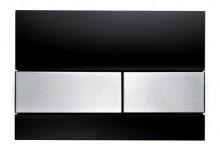 Produktbild: TECEsquare WC-Betätigungsplatte 2-Mengen,Glas schwarz Tasten Edelst.geb.