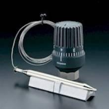 Produktbild: Temperaturregler mit Anlegefühler 20-50 °C, Kapillarrohr 2 m, Wärmeleitsockel
