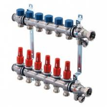 Produktbild: UPONOR Edelstahlverteiler f.5 Heizkreise  mit Durchflussmesser, Vario S  ST FM