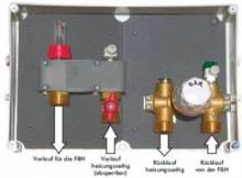 Produktbild: Unterputz-Einzelraumregelung für 1 Heizkreis mit RTB/TH-Kopf ohne Abdeckplatte