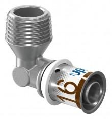 "Produktbild: Uponor Winkelnippel / Übergangswinkel S-Press PLUS 90° 16-R1/2"" MT"