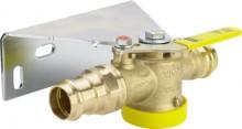 Produktbild: VIEGA Gaszähler-Kugelhahn 2645T, SC-Contur, m. TAE, 28 mm, Messing