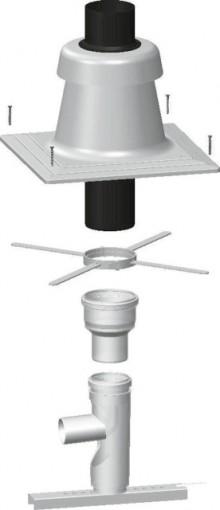 Produktbild: WOLF Grundbausatz DN 80/125 für Mehrfachbelegung, Raumluftunabh.