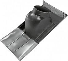 Produktbild: WOLF Universalpfanne Schrägdach 25-45° schwarz, mit flex. Bleischürze unten