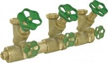 """Produktbild: Wasserverteiler 3-fach messing DN 40 11/4"""""""