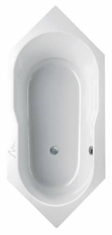 Produktbild: oleca 1900 x 850 x 450mm weiß Sechseckbadewanne
