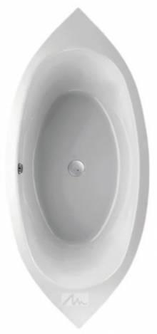 Produktbild: setosa 2190 x 1000 x 470mm weiß Ovalwanne