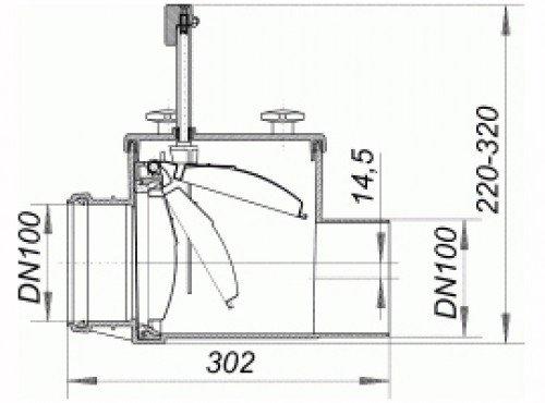 dallmer r ckstauverschluss stausafe h dn 100 661166 dallmer gmbh co kg hahn. Black Bedroom Furniture Sets. Home Design Ideas