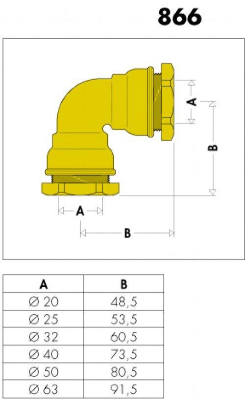 winkelverschraubung 50 mm 866050 caleffi messing hahn gro handel sigrun hahn e k. Black Bedroom Furniture Sets. Home Design Ideas