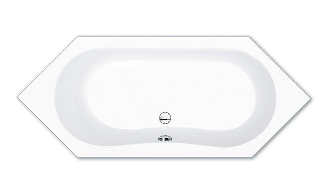 alicante sechseck badewanne 190x80x45 cm weiss 00439 repabad acryl hahn gro handel. Black Bedroom Furniture Sets. Home Design Ideas