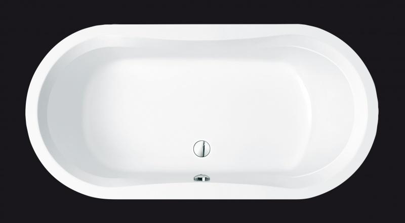 Hausmarke Oval Badewanne 180x90x46 Cm Weiss 16146h Acryl